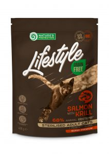 LIFESTYLE_Cat Salmon with Krill 400 PRIEKIU